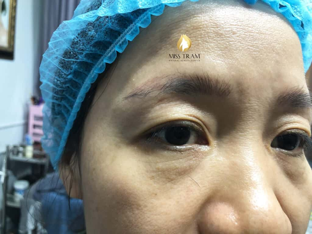 Before And After Handling Red Embroider Eyebrows And Sculpting Queen Brow 2