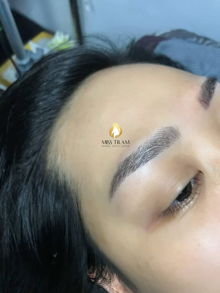 Before And After Sculpting Eyebrow Scraping Create Beautiful Standard Eyebrow 4