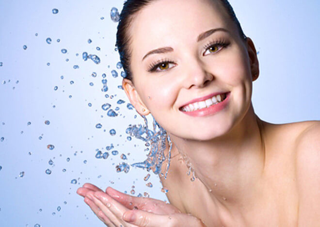 Facial skin care after squeezing acne