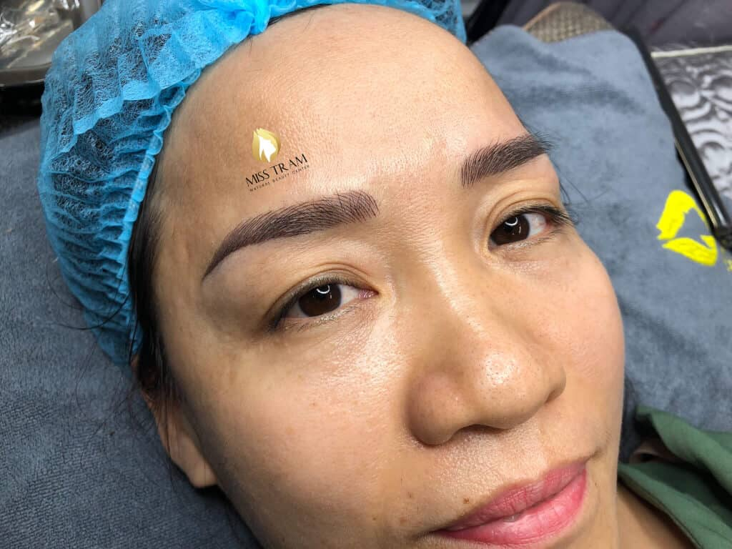 Before And After Handling Red Embroider Eyebrows And Sculpting Queen Eyebrows 6
