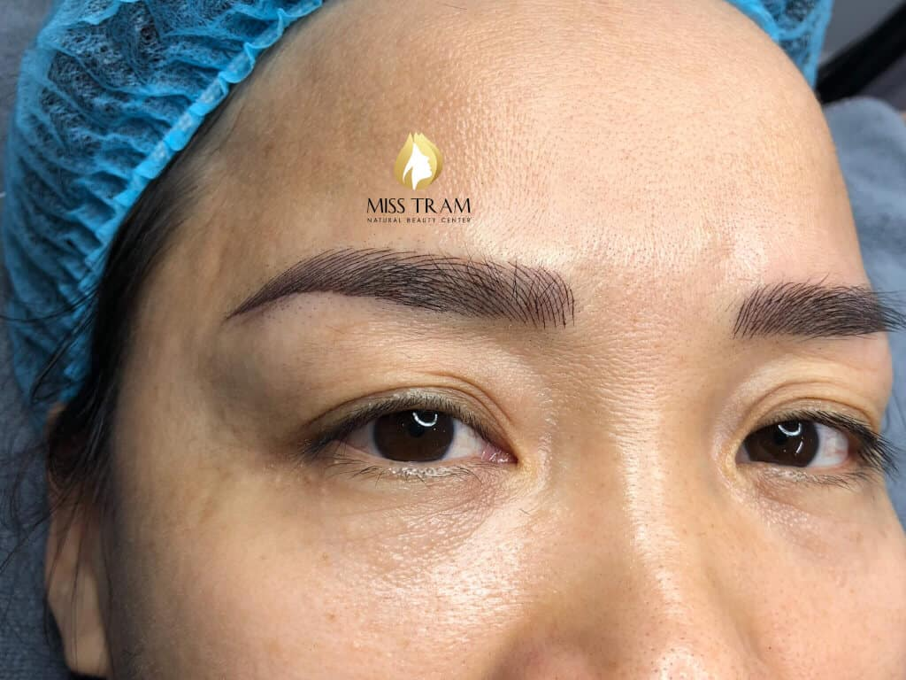 Before And After Handling Red Embroider Eyebrows And Sculpting Queen Brow 4
