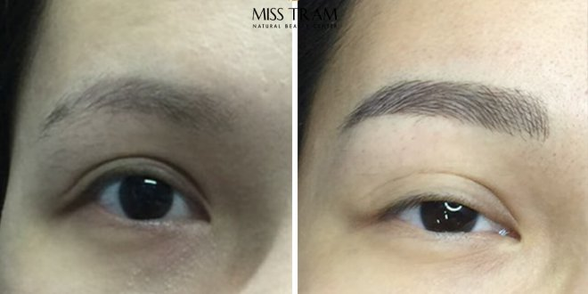 Before and After Results of Processing and Sculpting Eyebrows with Fiber 9D 1