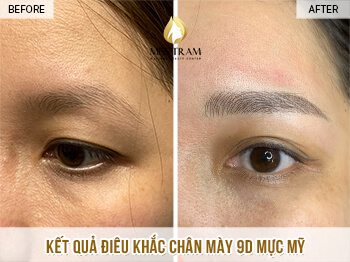 Before and After Sculpting Eyebrow 9D Using Herbal Ink 1