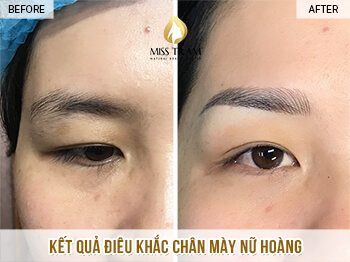 Before and After Results Sculpting Eyebrow Queen For Women 1