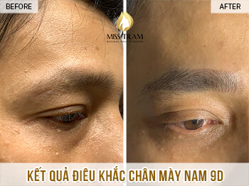 Before and After Results Sculpting Male Eyebrows Create Male Masculine Designs 1