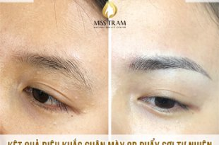 Before and After Sculpting Eyebrows Committing Fiber 9D Correcting Messy Eyebrows 14