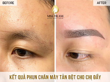 Before and After Super Fine Powder Eyebrow Spray For Women 1