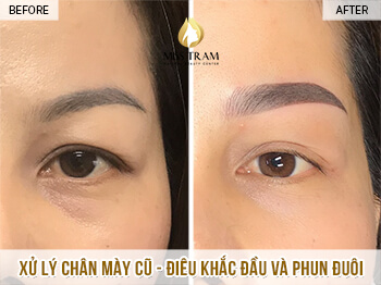 Before And After Processing Old Eyebrows - Sculpting Combined With Eyebrow Powder Spray 1