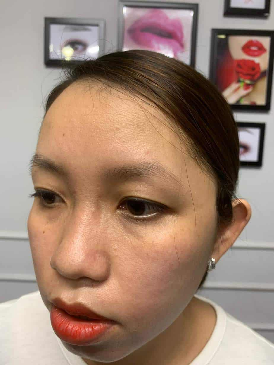 Before and After Sculpting Eyebrows 9D Using Herbal Ink 2