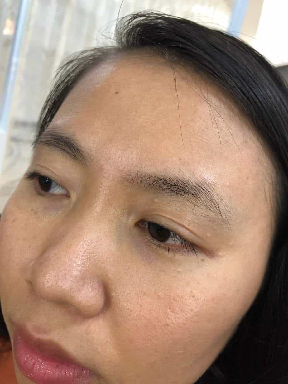 Before and After Sculpting Eyebrows Committing Fiber 9D Fixing Messy Eyebrows 2