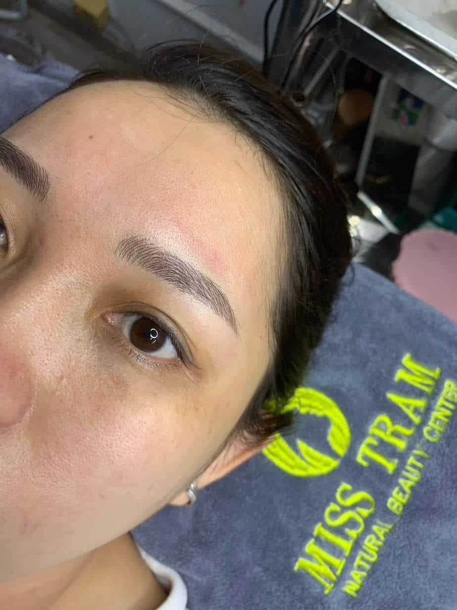 Before and After Sculpting Eyebrows 9D Using Herbal Ink 6