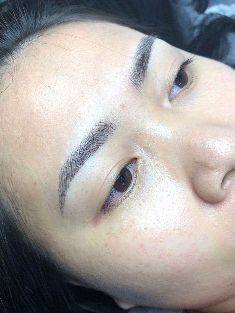 Before and After Sculpting Eyebrows Committing Fiber 9D Fixing Messy Eyebrows 6