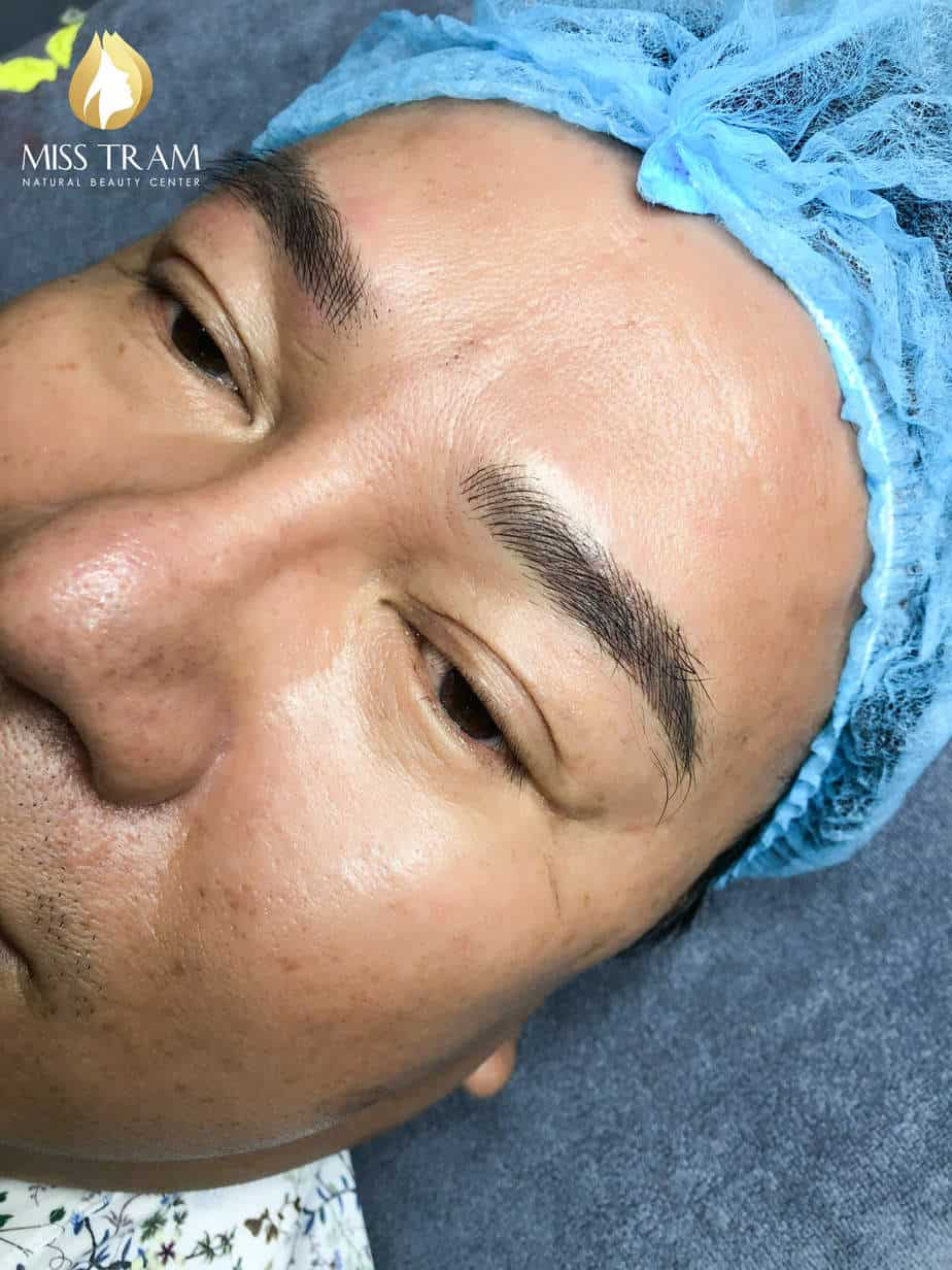 Before And After Sculpture Male Eyebrows Using Fine Ink 4