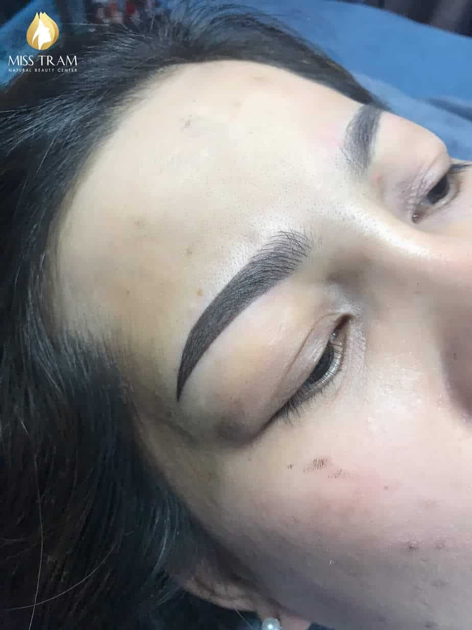 Before And After Processing Old Eyebrows - Sculpting Combined With Eyebrow Powder Spray 4