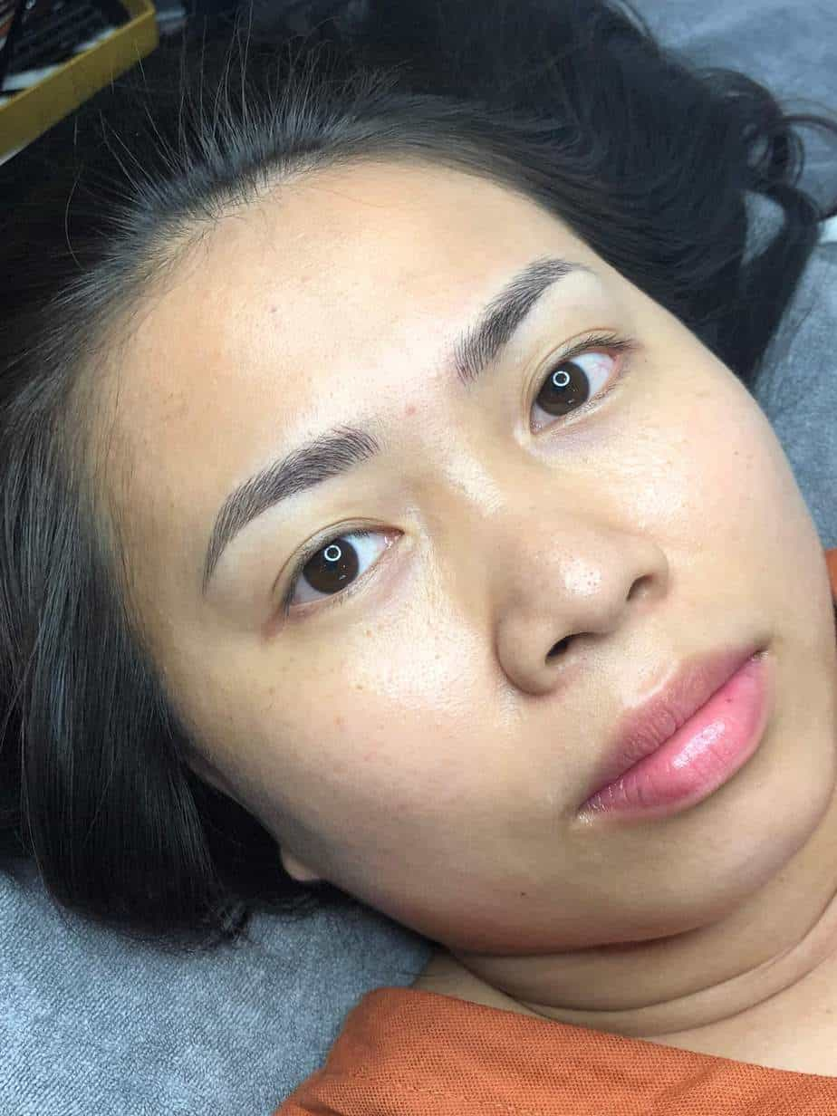 Before and After Sculpting Eyebrows Committing Fiber 9D Correcting Messy Eyebrows 5