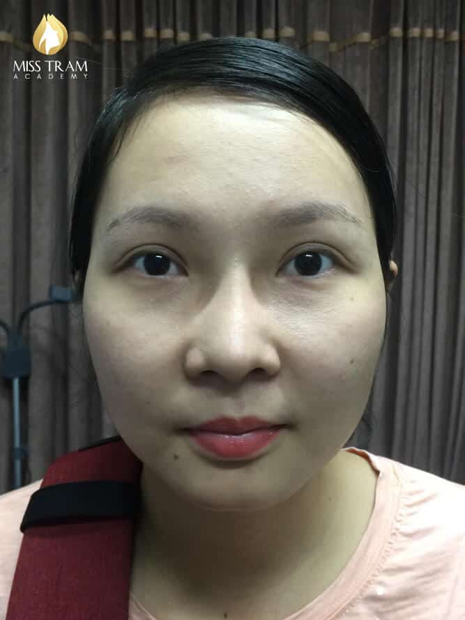 Before and After Results of Processing and Sculpting Eyebrow Scraps 9D 2