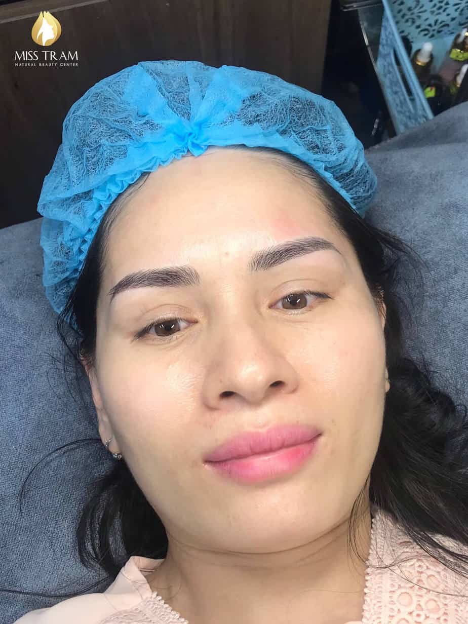 Before and After Using Sculpting Eyebrow Technology 9D Ink American Ink 6