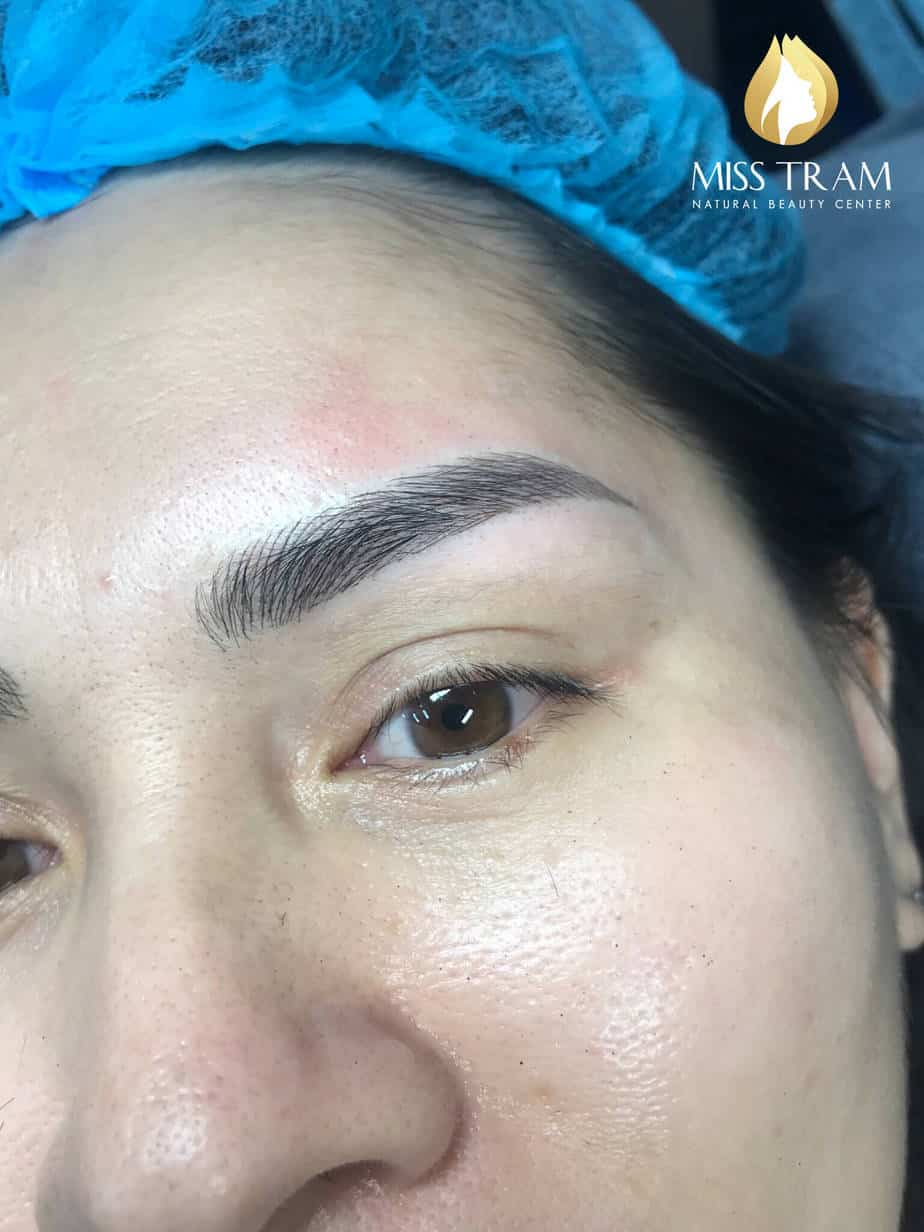 Before and After Using Sculpting Eyebrow Technology 9D Ink American Ink 5