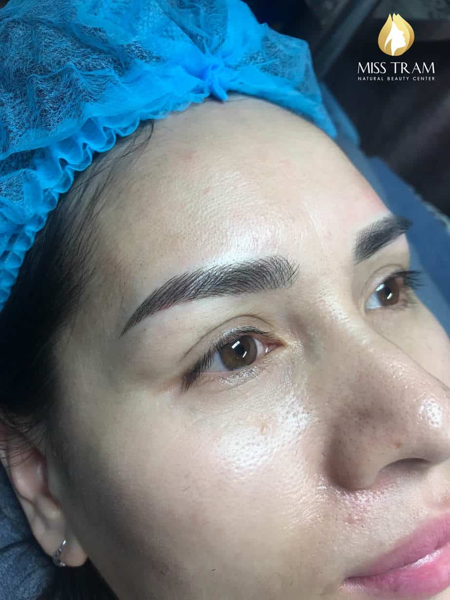Before and After Using Sculpting Eyebrow Technology 9D Ink American Ink 4