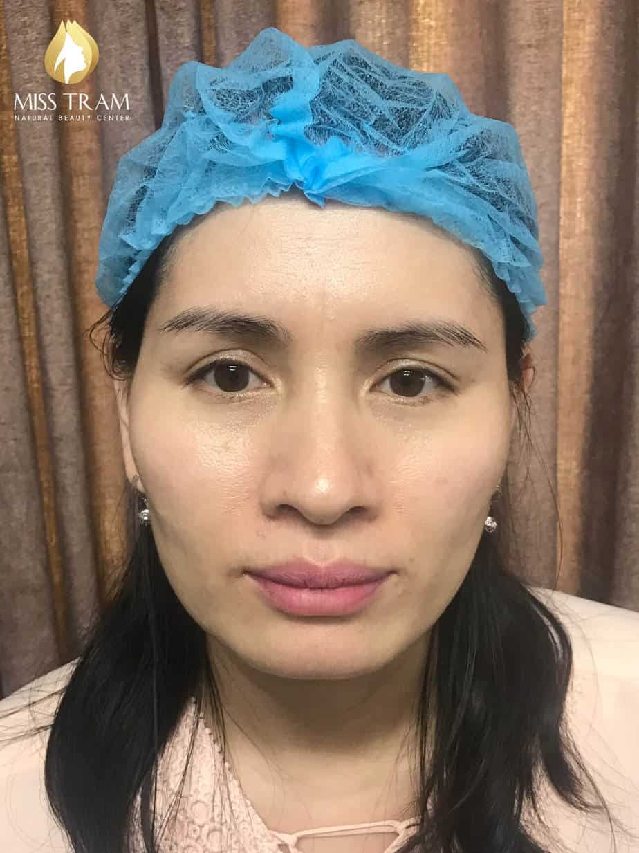 Before and After Using Sculpting Eyebrow Technology 9D Ink American Ink 2