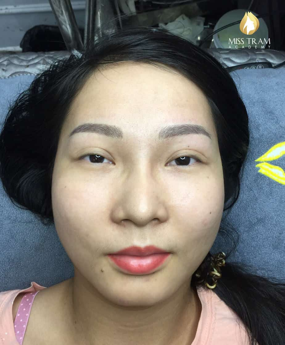 Before and After Results of Processing and Sculpting Eyebrows with Fiber 9D 3