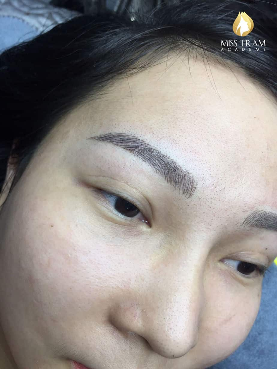 Before and After Results of Processing and Sculpting Eyebrows with Fiber 9D 4