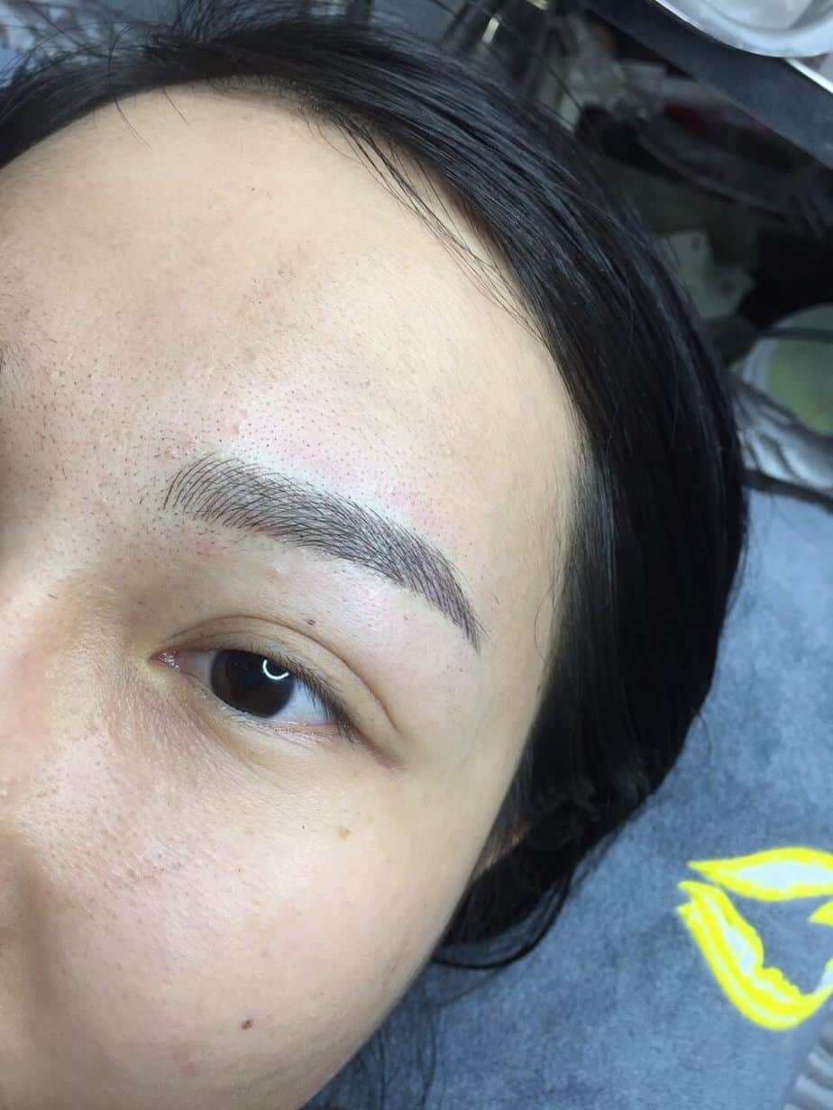 Before and After Results of Processing and Sculpting Eyebrows with Fiber 9D 5