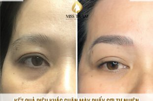 Before And After Sculpting Your Eyebrow Fiber Fixing The Eyebrow With Fiber Few 15