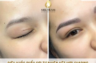 Before And After Sculpting Natural Fiber With Shading For Eyebrows 1
