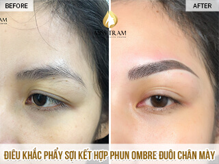 Before And After Sculpting Natural Fiber Comb With Ombre Eyebrow Spray 1