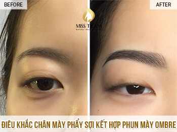Before And After Processing And Sculpting Old Eyebrows 1