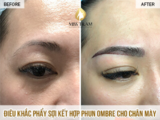 Before And After Sculpting Scrape Combine Spray Ombre Tail Eyebrow 1