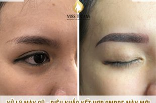Before and After Remaining Your Old Eyebrow - Sculpted Combination of New Ombre Eyebrow 48