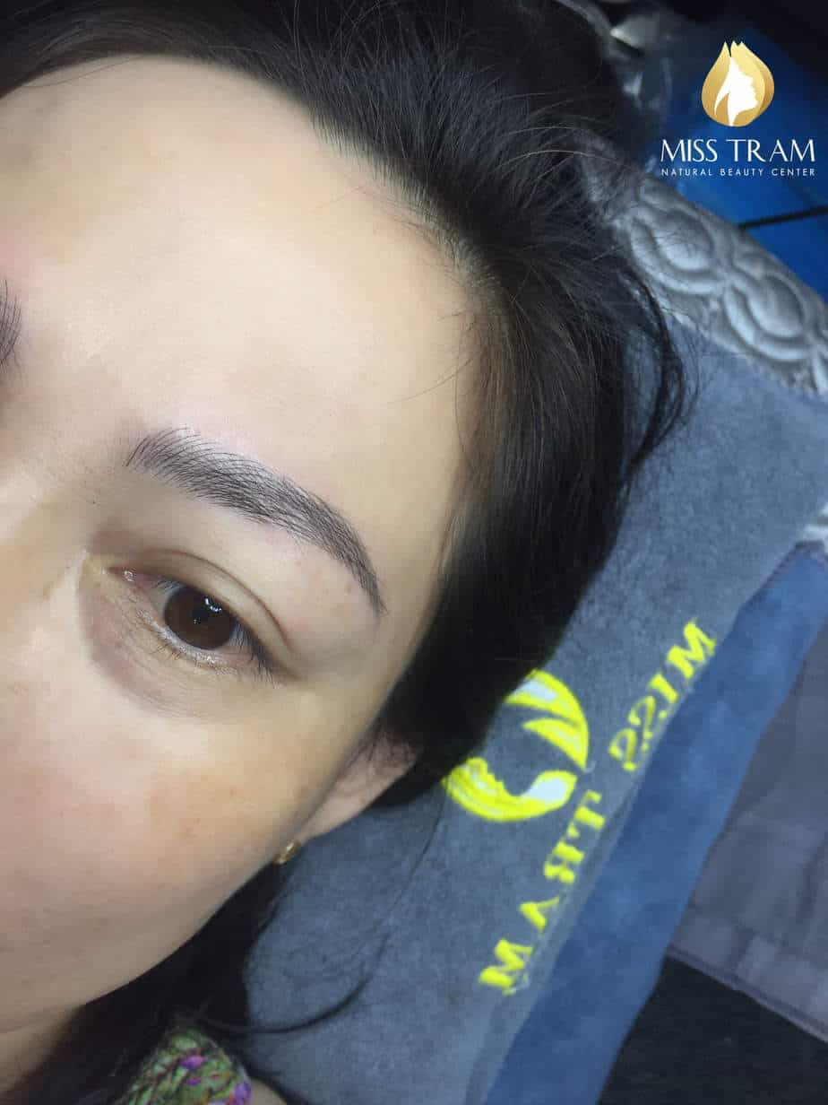 Before And After Sculpting Eyebrows Correcting Irregular Eyebrow 6
