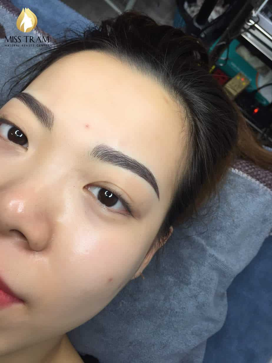 Before And After Processing And Sculpting Old Eyebrows 6