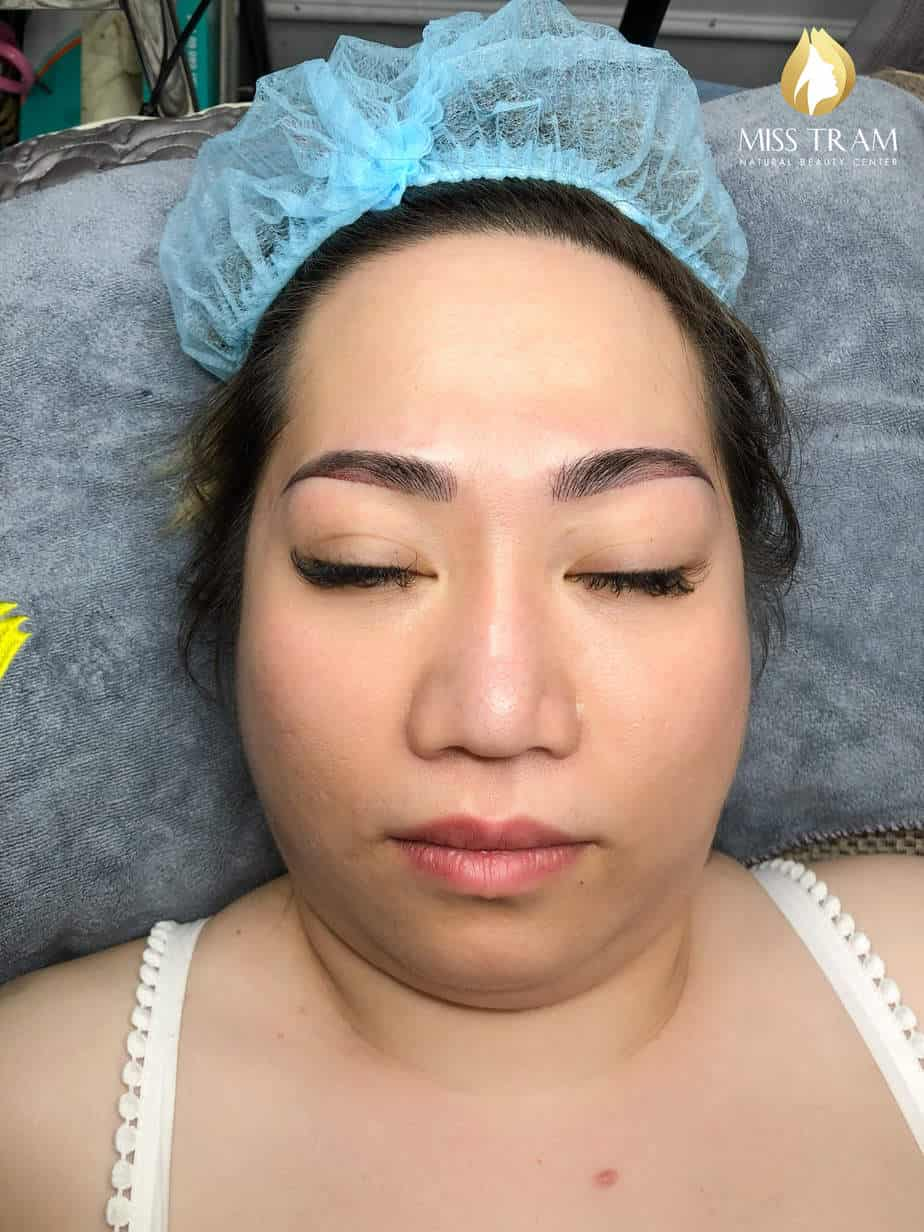 Before And After Sculpting Scrape Combine Spraying Ombre Tail Eyebrow 7