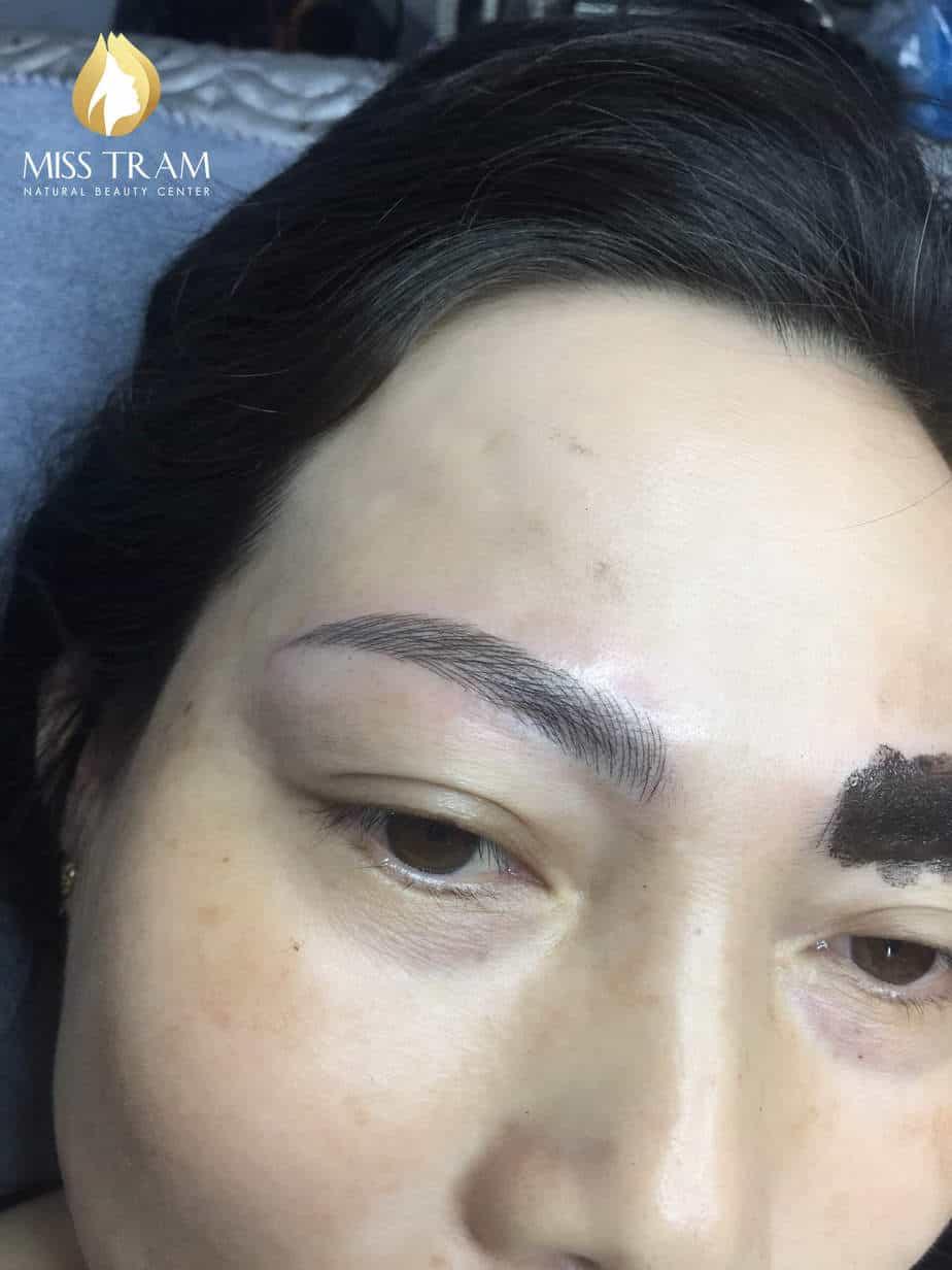 Before And After Sculpting Eyebrows Correcting Irregular Eyebrow 4