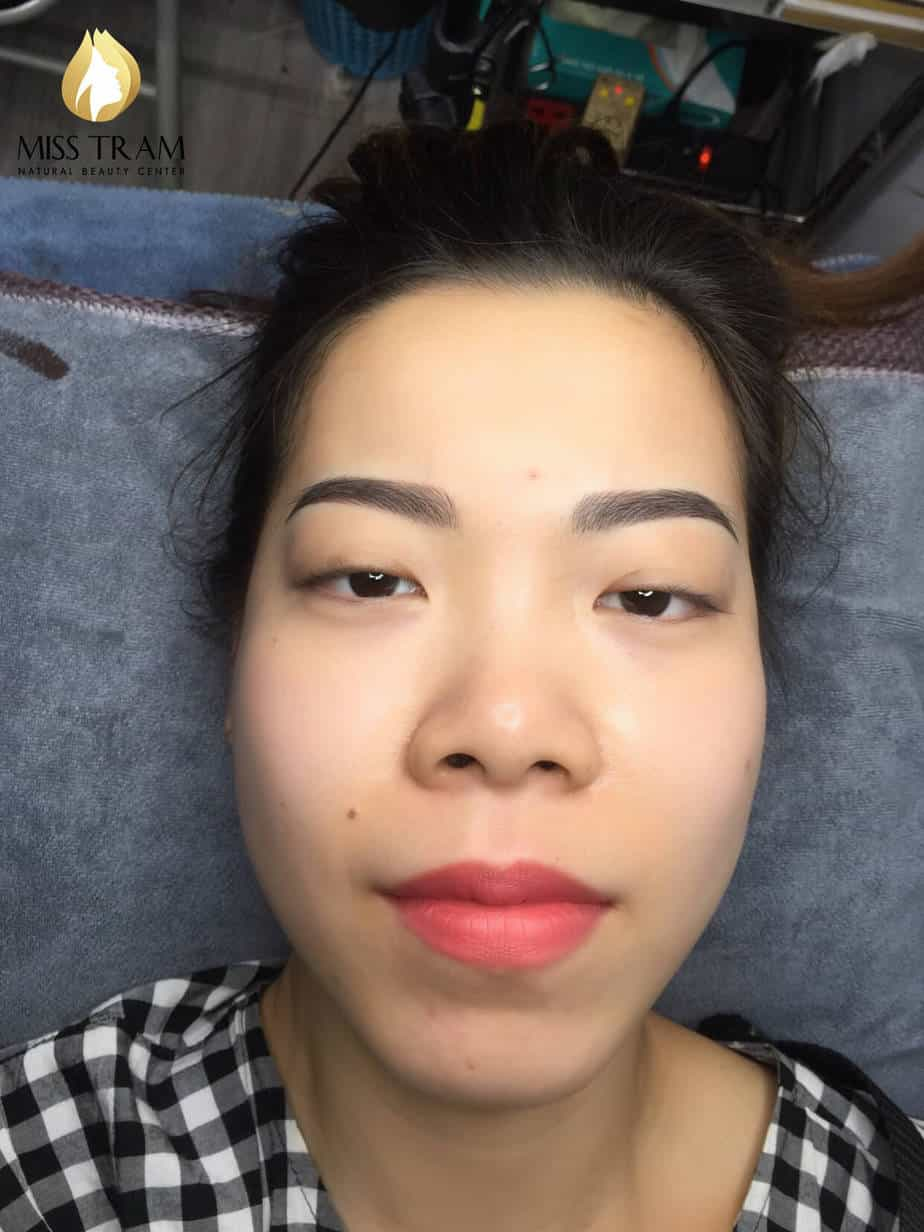 Before And After Processing And Sculpting Old Eyebrows 4