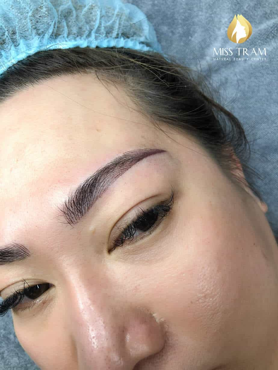 Before And After Scraping Combine Fiber Comb With Ombre Spray Eyebrow Tail 5