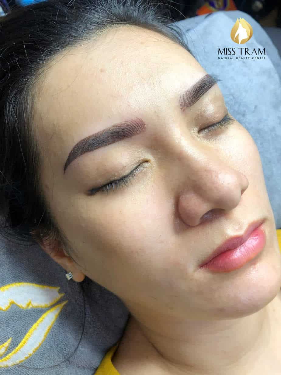 Before and After Remaining Your Old Eyebrow - Sculpting Combination of New Ombre Eyebrow 4