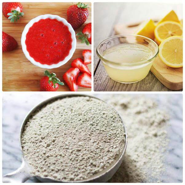 Clay mask recipe for oily skin with strawberry and lemon