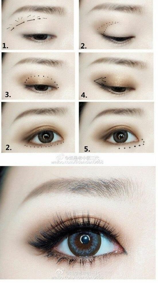 Outstanding eye makeup style