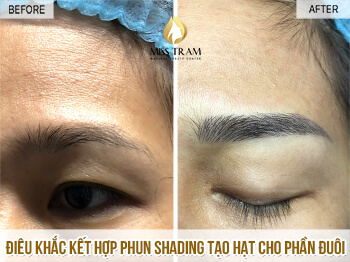 Before And After Sculpture Combined Spray Shading Cushion Ink Between Eyebrow Fibers 1