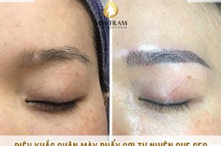 Before And After Covering Scar Eyebrow Scraping Sculpting Method 10