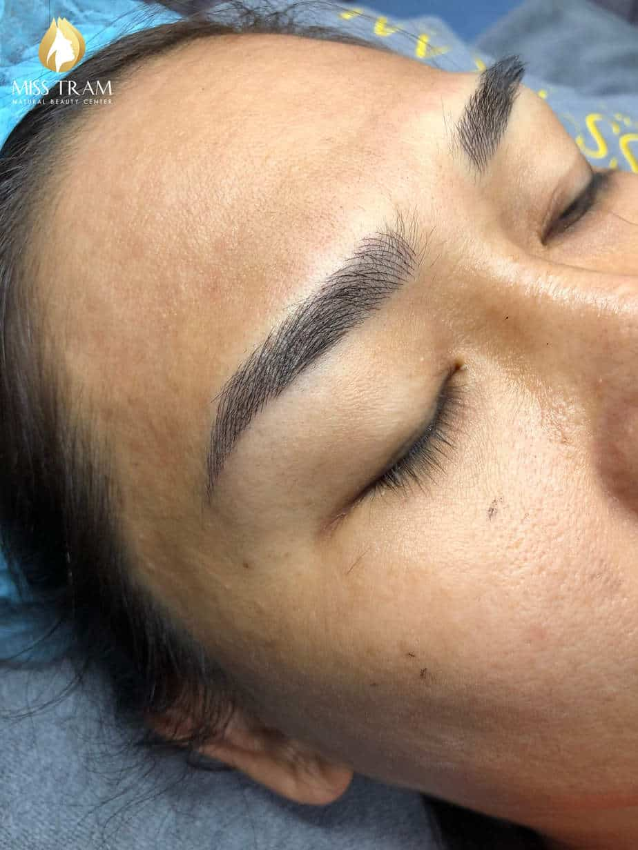 Before And After Sculpture Combined Spray Shading Cushion Ink Between Eyebrow 6