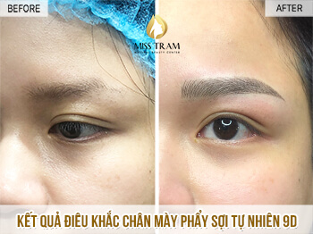 Before And After Sculpting Eyebrow Commemorating Natural Fiber 9D For Women 1