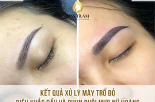 Before And After Handling Old Eyebrows - Sculpture Combined With Beautiful Eyebrow Tail 22