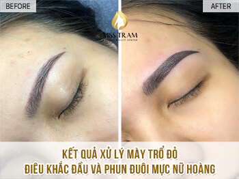 Before And After Processing Old Eyebrows - Sculpting Combined With Beautiful Eyebrow Tail 1