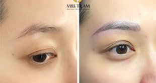Before and After Sculpture Natural Eyebrows According to the golden Ratio 1
