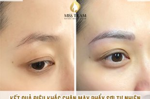 Before And After Sculpture Natural Eyebrows In Golden Ratio 34